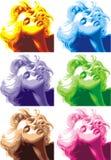 Blondes Mädchenaussehung wie Marilyn Monroe stock abbildung