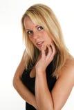 Blondes Mädchendenken Stockfoto