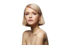 Blondes Mädchenportrait Stockbild