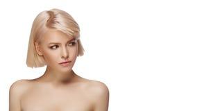 Blondes Mädchenportrait Stockfotografie