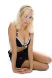 Blondes Mädchenportrait der jungen Schönheit Lizenzfreie Stockfotografie