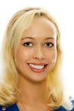 Blondes Mädchenportrait der Schönheit lizenzfreies stockbild