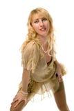 Blondes Mädchenportrait der Schönheit Stockbilder