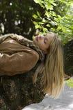 Blondes Mädchenschlafen Lizenzfreie Stockfotos
