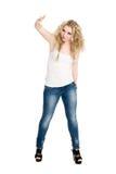 Blondes Mädchentanzen-Hip-Hop Lizenzfreies Stockbild