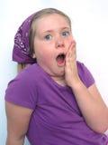 Blondes Mädchen mit großen blauen Augen Lizenzfreies Stockbild