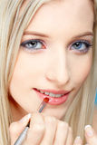 Blondes Mädchenbilden Stockfoto