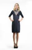 Blondes ModeGeschäftsfraumodell Lizenzfreie Stockfotografie