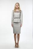 Blondes ModeGeschäftsfraumodell Lizenzfreies Stockbild