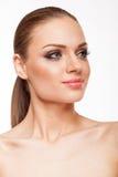 Blondes Modell mit Fachmann bilden Lizenzfreie Stockbilder