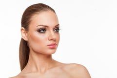 Blondes Modell mit Fachmann bilden Lizenzfreies Stockbild