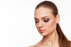 Blondes Modell mit Fachmann bilden Lizenzfreies Stockfoto