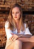 Blondes Portrait Lizenzfreie Stockfotografie