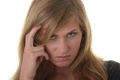 Blondes Portrait der jungen Frau (Kursteilnehmer) Stockbild