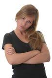 Blondes Portrait der jungen Frau (Kursteilnehmer) Lizenzfreie Stockbilder