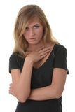 Blondes Portrait der jungen Frau (Kursteilnehmer) Stockbilder