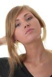 Blondes Portrait der jungen Frau (Kursteilnehmer) Lizenzfreies Stockbild