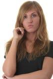Blondes Portrait der jungen Frau (Kursteilnehmer) Lizenzfreie Stockfotografie