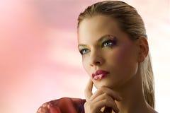 Blondes Portrait der Schönheit Stockbilder