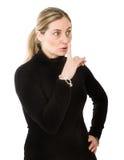 Blondes Ruhezeichen Stockfoto