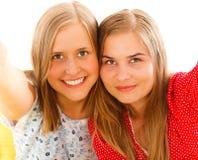 Blondes Selfie Stockfotografie