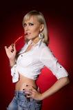 Blondes Sprungsmelonen-Rotgewürz Lizenzfreie Stockbilder