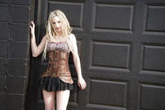 Blondes Steampunk-Mode-Modell Stockfotografie