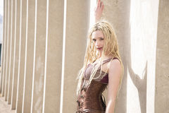 Blondes Steampunk-Mode-Modell Stockbild