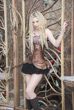 Blondes Steampunk-Mode-Modell Lizenzfreie Stockbilder