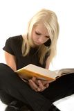 Blondes Studing Lizenzfreie Stockfotos