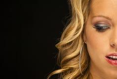 Blondes vorbildliches Headshot Stockbild