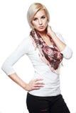 Blondes weibliches Modell Lizenzfreie Stockfotos