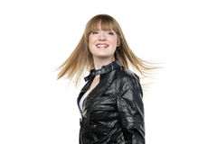 Blondes wellenartig bewegendes Haar der Frau Lizenzfreies Stockfoto