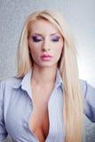 Blondevrouw  Royalty-vrije Stock Afbeelding