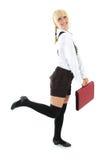 blondie σχολείο κοριτσιών μορ&phi Στοκ φωτογραφία με δικαίωμα ελεύθερης χρήσης