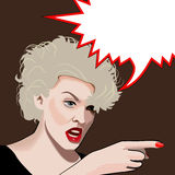 Blondie. An angry blonde marilyn monroe look alike (vector Stock Photography