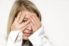 Blondie Auge stockfotografie