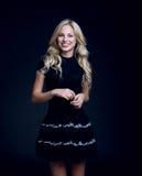 Blondie avec de beaux cheveux photo libre de droits