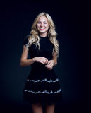 Blondie with beautiful hair royalty free stock photo