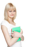 Blondie with books Stock Image