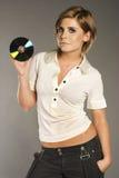 Blondie con CD Imagenes de archivo