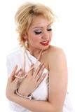 Blondie dreaming. Marilyn Monroe imitation Royalty Free Stock Photos