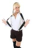 Blondie girl in school form Stock Image