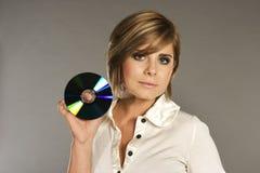 Blondie mit CD Stockbilder