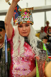 Blondie Queen Deborah Harry speaking made appearance at the 35th annual Mermaid Parade Royalty Free Stock Image