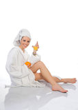 Blondie spa. And healthy drinks Stock Images