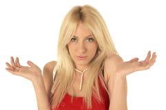 Blondie surprised Stock Photos