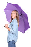 Blondie under an umbrella. Stock Photography