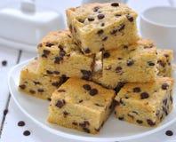 blondies czekoladowe ciastek krople Zdjęcie Royalty Free