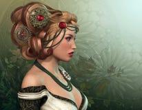Blondin royaltyfri illustrationer